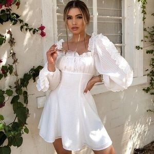 C/Meo Collective Perfect Part Mini Dress - White